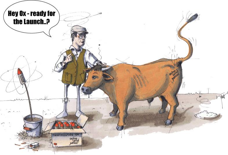 Hey ox ready to launch cartoon